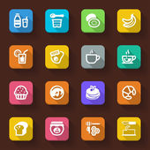 Beakfast flat icons — Stock Vector