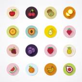 Fruit icons in a circle — Stock Vector