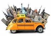 Retro taxi — Stockfoto