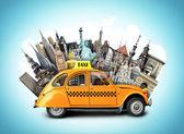 Retro taxi — Stock Photo
