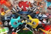 Kolaż muzyki — Zdjęcie stockowe