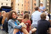 Beautiful girl tourist in Rome — Stock Photo