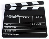 Clapperboard as Cut on White Background — Stock Photo