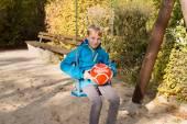 Bambino sull'altalena — Foto Stock