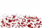 Blood spatter on White Background — Stock Photo
