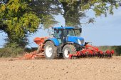 Grain sowing — Stock Photo