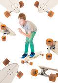 Child on his skateboard — Stock Photo