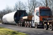 Heavy transport Wind turbine transportation — Foto Stock