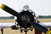 Propeller of an airplane engine — Stock Photo