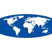 Spherical vector world map — Stock Vector