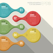 Five option banner infographic — Wektor stockowy