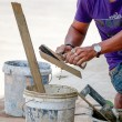 Tiler working — Stock Photo #58034347