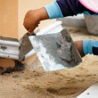 Tiler working — Stock Photo #58034379