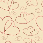 Seamless vector background with hearts — Stock Vector