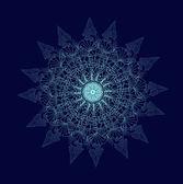 Shiny Vector snowflake — Stockvektor