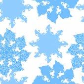 Bakgrund med snöflingor — Stockvektor
