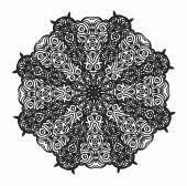 Mandala seamless pattern background — Stok Vektör