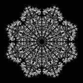 Monochromatic ornamental  mandala — Stock Vector