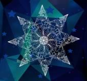 Lacy snowflake — Stock vektor