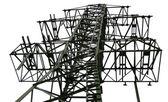 Transmission tower fragment — Stock Photo