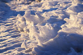 Blue Snow cover. — Stock Photo