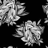 Soyut çiçek seamless modeli. — Stok Vektör
