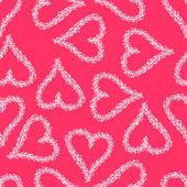 Abstract seamless heart  background. — Stockvektor