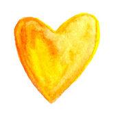 Aquarel geschilderd hart — Stockvector