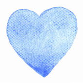 Hand-drawn watercolor heart — Stock Vector