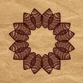 Decorative design element Ornamental mandala. — Stock Vector