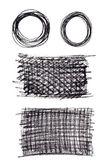 Black crayon abstract elements — Stock Vector
