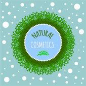 Natuurlijke cosmetische badge — Stockvector