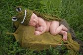 Baby Boy Wearing an Alligator Costume — Stock Photo