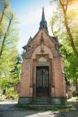 Old crypt in a cemetery in Lviv — Stockfoto