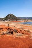Yunnan Haifeng wetland edges Red Land — Stock Photo