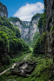 Chongqing Wulong natural Bridge Dragon Inn landscape — Stock Photo