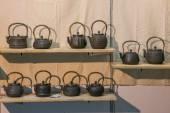 Chongqing Tea Expo show copper teapot — Stock Photo