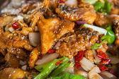 China Chongqing faction name cuisines - frying fish — Stock Photo