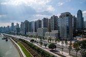 North Rd Liujiatai segment Jiangbei District, Chongqing — Stock Photo