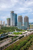 Chongqing Jiangbei mouth financial business district under construction — Stock Photo
