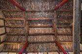 The net result HECHUAN Temple temple hall housing construction — Stock Photo
