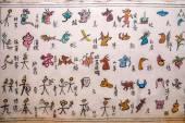 Yunnan Lijiang Naxi pictograph alley wall — Stock Photo