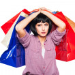 Young brunette woman with shopping bags — Stock Photo #58327851