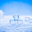 Wet ice cubes and snow — Stock Photo #70602189