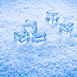 Wet ice cubes and snow — Stock Photo #70603279
