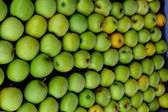 Pile of green apples — Foto Stock