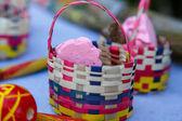 Handmade candies on basket — Stock Photo