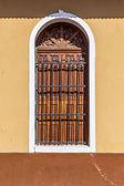 Vecchia porta di legno in dettaglio — Foto Stock