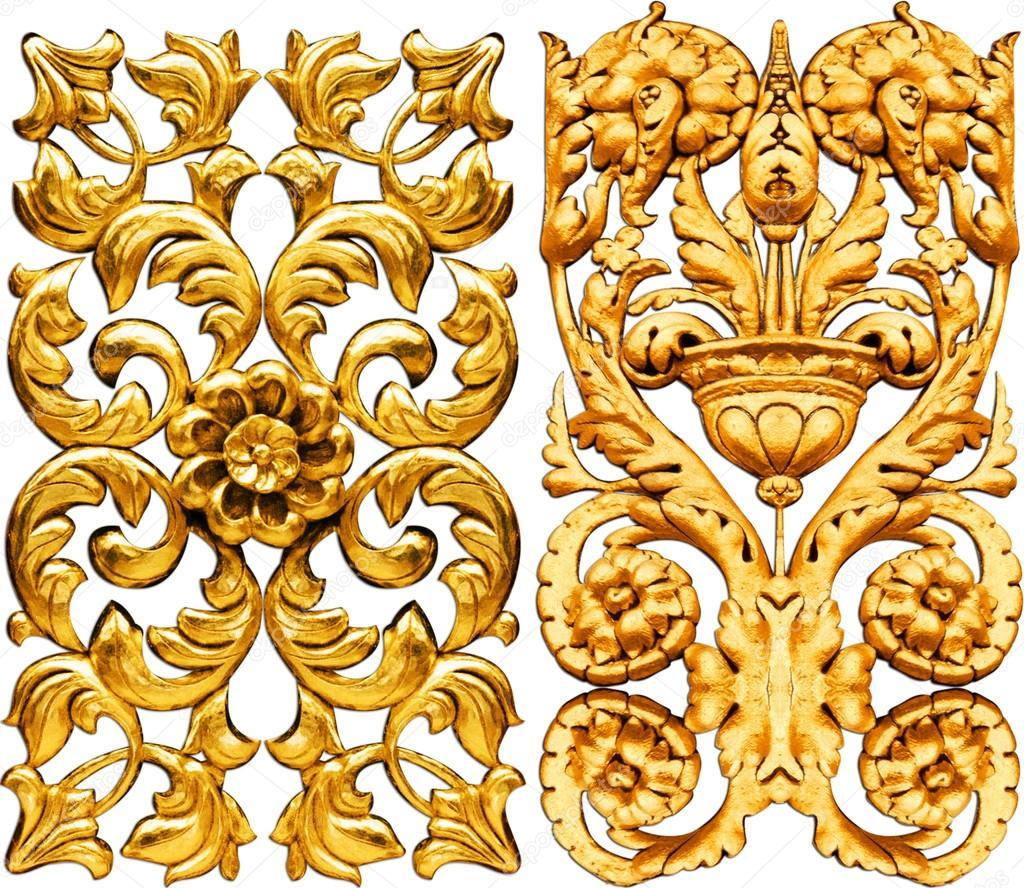Golden baroque stock photo kadirgul 52347931 - Stickers baroque pour meuble ...