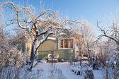 Summer cabin at winter — Stock Photo
